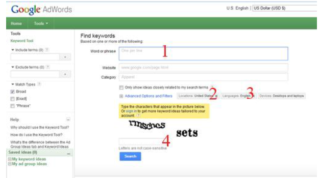 بهینه سازی - مشخصات کردن کلمات کلیدی سایت بهینه سازی سایت