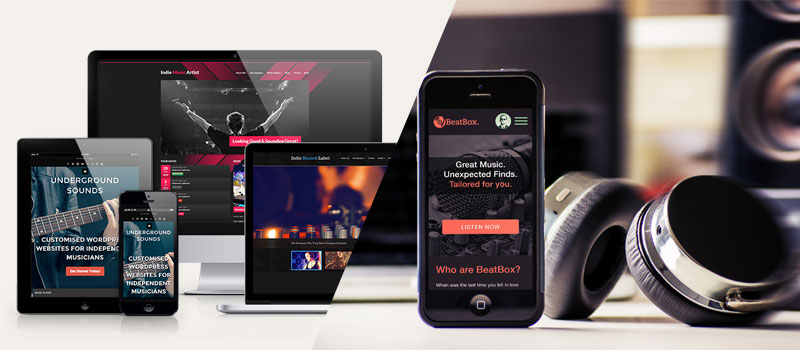 music-website طراحی سایت موسیقی