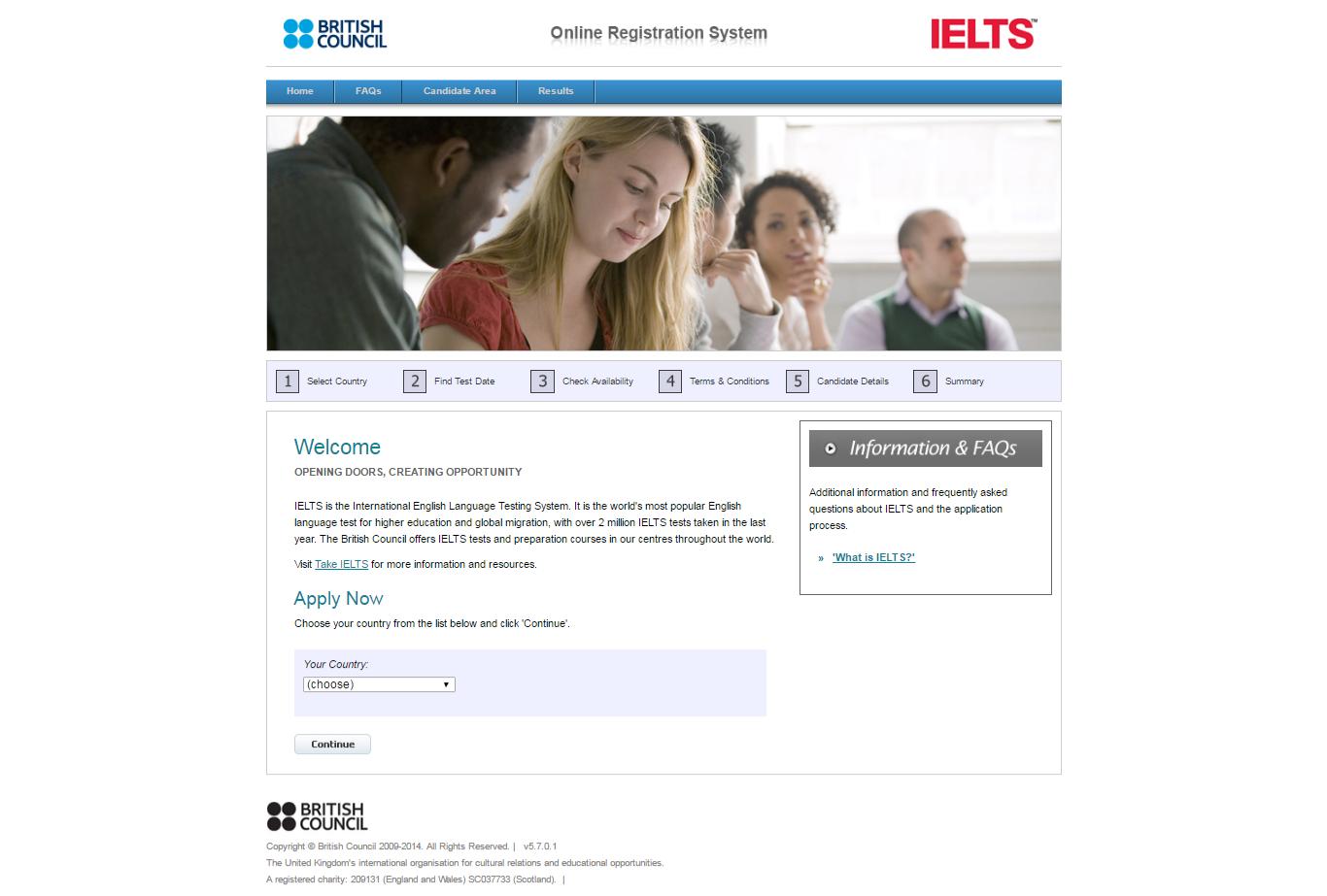 طراحی سایت آزمون آیلس